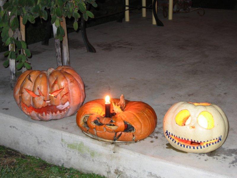Jack-o-lanterns on 10/31
