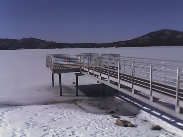 Pier overlooking Big Bear Lake